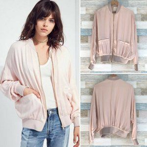 Urban Outfitters Oversized Bomber Jacket Pink